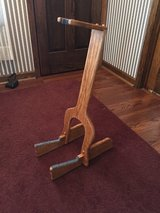 Custom made wooden guitar stand in Aurora, Illinois