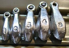 Bank Fishing Sinkers; Assorted Sizes in Fort Leonard Wood, Missouri
