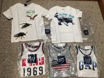 BRAND NEW LOT- Gap 4T boy tanks and tees!! in Plainfield, Illinois