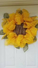 Sunflower wreath great for spring in Clarksville, Tennessee