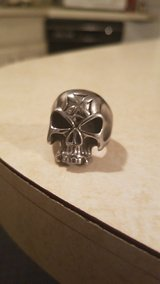 Skull ring with iron cross in Philadelphia, Pennsylvania