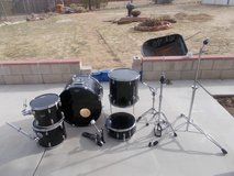(Black) Ludwig 5 piece drum set in Yucca Valley, California
