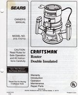 Craftsman 1 1/2 hp Router w/ Craftsman Router Table in Fort Campbell, Kentucky