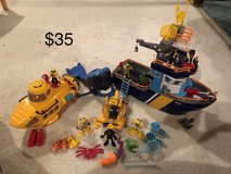 Fisher Price Imaginext Boat and Submarine in Joliet, Illinois
