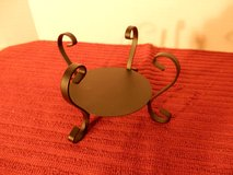 Yankee Candle black Iron Scroll Candle Holder in Naperville, Illinois