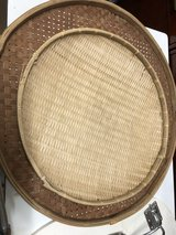 2 round wicker trays in Okinawa, Japan