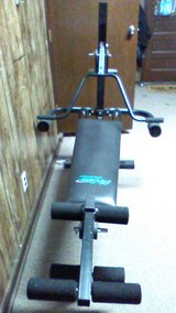 Lifegear total workout bench integrated weights! in Westmont, Illinois