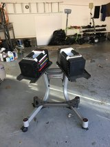 adjustable dumbbells with stand in Lockport, Illinois