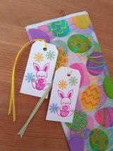 8 Easter Goody Bags With Gift Tags Handmade in Ramstein, Germany