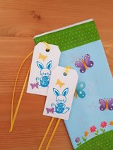 8 Easter Goody Bags With Tags Handmade in Ramstein, Germany