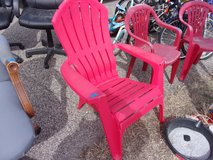 Set of Two Red Plastic Chairs in Fort Riley, Kansas