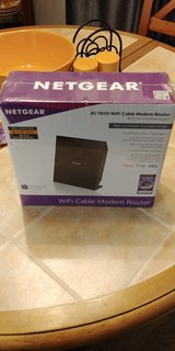 NETGEAR AC1600 Mbits/s Cable Modem/Wireless Router in Camp Lejeune, North Carolina