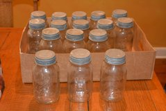 16 Old Metal Top Mason Jars in Kingwood, Texas