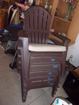 Set of Six New Brown Lawn Chairs With Pad in Fort Riley, Kansas
