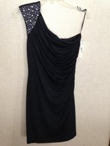 Very Sexy black knit off-one-shoulder club dress Allen Schwartz w/certificate Sacks 5th Ave NWT! in Naperville, Illinois