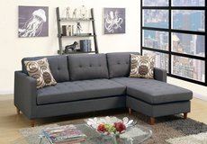 BRAND NEW! URBAN SOFA CHAISE LINEN GREY SECTIONAL W/PILLOWS in Camp Pendleton, California