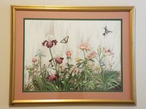 Floral numbered print,  Louisiana artist in Spring, Texas