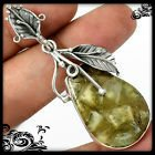 New - Pranite In Pyrite Gemstone 925 Sterling Silver Leaf Pendant (Includes a chain) in Alamogordo, New Mexico