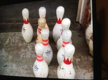 Bowling pins in Camp Pendleton, California