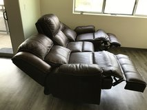 Motorised leather recliner sofa in Phoenix, Arizona