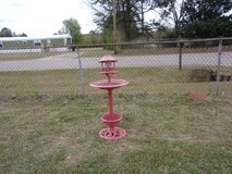 Three Solar lighted Bird Baths With three Different colors in Warner Robins, Georgia