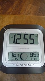 Atomic 'Satellite' Clock --- TIme, Date, In / Out Door Temperature Readings in Okinawa, Japan