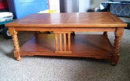 solid wood antique coffee table in Dothan, Alabama