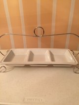 Simply Perfect 3 Section Serving Dish w/Display Rack in Eglin AFB, Florida