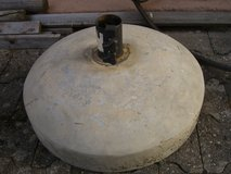 heavy concrete umbrella stand in Ramstein, Germany