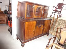 Various antiques for sale. Dressers, showcases, bar, 30 tables, 150 chairs, radios in Wiesbaden, GE