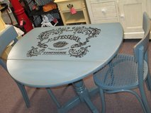 Small Painted Drop  Leaf Table With 2 Chairs in Camp Lejeune, North Carolina
