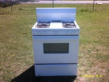 used gas cooking range, white in Pearland, Texas