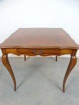 French Style Leather Topped Game Table in Pearland, Texas