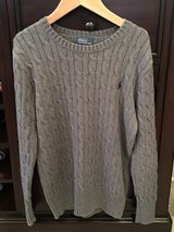LIKE NEW Boys Ralph Lauren Gray Cable Knit Sweater Size 10-12 in Lockport, Illinois