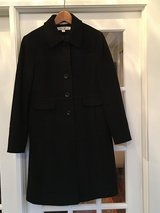 Women's Black Wool Dress Coat; Larry Levin Size 6 in Naperville, Illinois