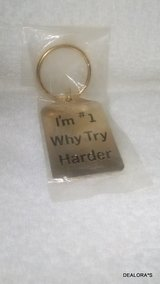 I'm #1 Why Try Harder Gold Plated Keychain in Shreveport, Louisiana