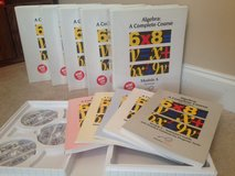 VideoText Algebra Modules A-F complete DVD set, Grs. 6-12 in Warner Robins, Georgia