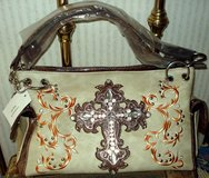 CROSS PURSE Beige Brown NEW RHINESTONES SPARKLE New w/Tag in Ruidoso, New Mexico