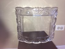 Solid Mikasa Glass Crystal Frame Curved Bowed 5x7 photo in Oswego, Illinois