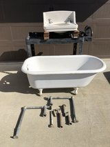 1932 claw foot tub and sink in Travis AFB, California