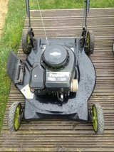 Petrol mower in Lakenheath, UK