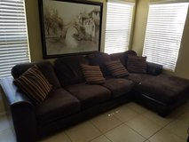 Microfiber sectional with chaise in Camp Pendleton, California