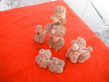 Family of 4 ceramic Poodles in Yucca Valley, California