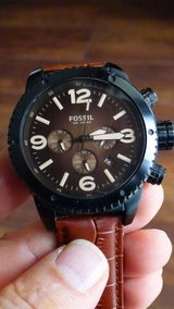 Fossil Watch w/ leather band in Okinawa, Japan