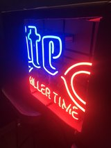 lite-miller time neon sign brand new in box in Plainfield, Illinois