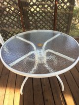 """42"""" wide and 27"""" high sturdy plexiglass round table with white frame. in Fairfax, Virginia"""