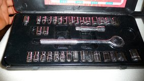 Socket Set w Ratchet, metric and SAE (American) sizes in Okinawa, Japan