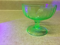 Vaseline glass (uranium)  Green desert bowl - in Fort Leonard Wood, Missouri