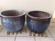 Ceramic Pots Set of two- Large in Okinawa, Japan