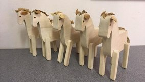 Job Lot Of Handmade Wooden Horses (Toys) in Lakenheath, UK